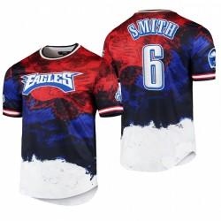 Eagles Devonta Smith 2021 Day Indépendance T-shirt Americana Dip-Dye - Navy Rouge