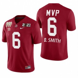 Alabama Crimson Tide Devonta Smith 2021 Rose Bowl offensive MVP Maillot - Crimson
