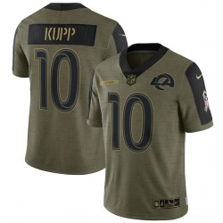 Cooper Kupp Los Angeles Rams Nike 2021 Salute To Service Limited Joueur Maillot - Olive