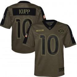 Cooper Kupp Los Angeles Rams Nike Enfants 2021 Salut To Service Jeu Maillot - Olive
