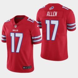 Buffalo Bills Men 17 Josh Allen Vapor Intouchable Limited Jersey - Rouge