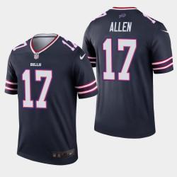 Buffalo Bills Hommes 17 Josh Allen Inverted Legend Jersey - Marine