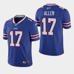 Buffalo Bills Hommes 17 Josh Allen 100ème saison de vapeur Limited Jersey - Royale