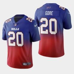 Buffalo Bills Hommes 20 Frank Gore couleur crash dégradé Royal Maillot