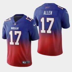 Buffalo Bills Josh Allen couleur crash dégradé Royal Jersey