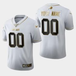 Men Buffalo Bills 00 personnalisés 100ème Saison Golden Edition Jersey - Blanc