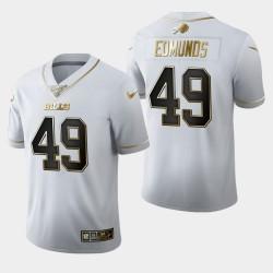 Buffalo Bills Men 49 Tremaine Edmunds 100ème Saison Golden Edition Jersey - Blanc