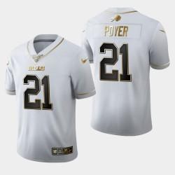 Jordan Bills Poyer 100 Saison Golden Edition Jersey - Blanc