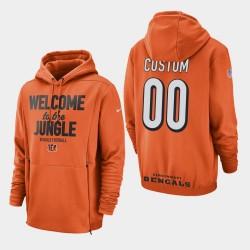 Cincinnati Bengals hommes 00 personnalisés Sideline Lockup Sweat à capuche - orange
