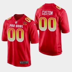 Cincinnati Bengals 00 hommes Pro Bowl personnalisés 2019 AFC jeu Jersey - Rouge