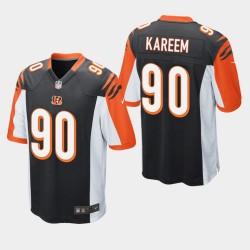 Jeunesse Cincinnati Bengals 90 Khalid Kareem Draft NFL jeu Jersey - Noir