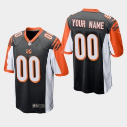 NFL Draft Cincinnati Bengals 00 Custom Jeu Maillot Homme - Noir