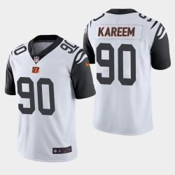 Cincinnati Bengals 90 Khalid Kareem NFL Draft couleur Rush Limited Jersey Homme - Blanc