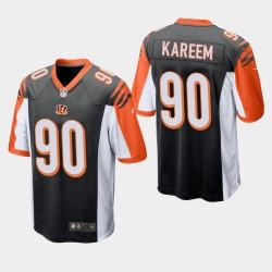 NFL Draft Cincinnati Bengals 90 Khalid Kareem jeu Jersey hommes - Noir