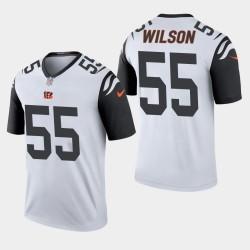 Cincinnati Bengals 55 Logan Wilson NFL Draft légende de pointe de couleur Jersey Hommes - Gris