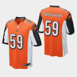 NFL Draft Cincinnati Bengals 59 Akeem Davis-Gaither jeu Jersey Hommes - Orange