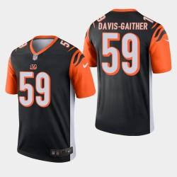 Cincinnati Bengals 59 Akeem Davis-Gaither Jersey Draft NFL Hommes - Noir
