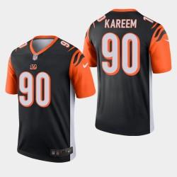 NFL Draft Cincinnati Bengals 90 Khalid Kareem Legend Jersey Hommes - Noir