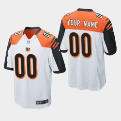 NFL Draft Bengals de Cincinnati 00 Jeu Personnalisé Jersey Hommes - Blanc