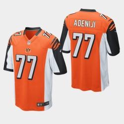 NFL Draft Cincinnati Bengals 77 Hakeem Adeniji jeu Jersey Hommes - Orange
