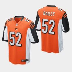 NFL Draft Cincinnati Bengals 52 Markus Bailey jeu Jersey hommes - Orange