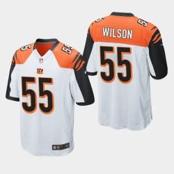 NFL Draft Cincinnati Bengals 55 Logan Wilson jeu Jersey Hommes - Blanc