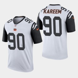 NFL Draft Cincinnati Bengals 90 Khalid Kareem légende de pointe de couleur Jersey Hommes - Gris
