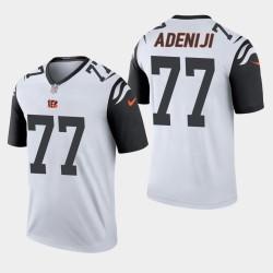 Cincinnati Bengals 77 Hakeem Adeniji Jersey Projet de NFL Hommes - Gris