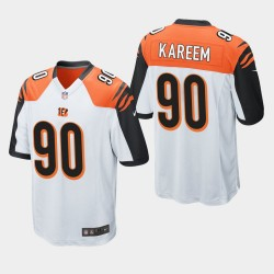 NFL Draft Cincinnati Bengals 90 Khalid Kareem jeu Jersey Hommes - Blanc