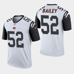 NFL Draft Cincinnati Bengals 52 Markus Bailey légende de pointe de couleur Jersey Hommes - Gris