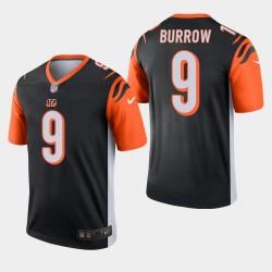 NFL Draft Cincinnati Bengals 9 Joe Legend Burrow Jersey Hommes - Noir