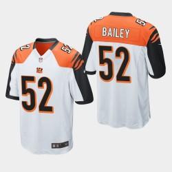 NFL Draft Cincinnati Bengals 52 Markus Bailey jeu Jersey Hommes - Blanc