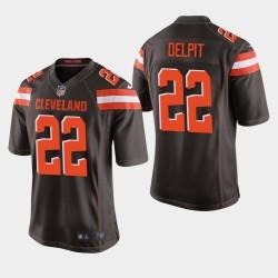 Hommes Cleveland Browns 22 Grant Delpit NFL Draft jeu Jersey - Brown