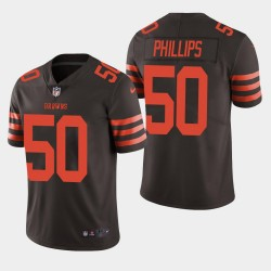 Hommes Cleveland Browns 50 Jacob Phillips NFL Draft vapeur couleur Rush Limited Jersey - Brown