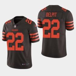 Cleveland Browns 22 Grant Delpit Draft NFL Jersey hommes - Brown