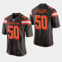 Hommes Cleveland Browns 50 Jacob Phillips NFL Draft jeu Jersey - Brown