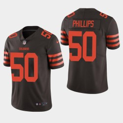 NFL Draft Cleveland Browns 50 Jacob Phillips couleur Rush Limited Jersey Men - Brown