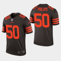 NFL Draft Cleveland Browns 50 Jacob Phillips couleur Rush Legend Jersey Hommes - Brown