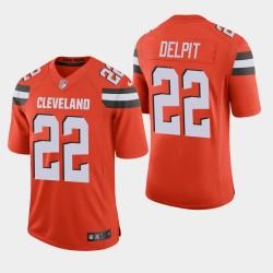 Cleveland Browns 22 hommes Grant Delpit NFL Draft vapeur Limited Jersey - Orange