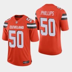 Hommes Cleveland Browns 50 Jacob Phillips NFL Draft Vapor Limited Jersey - Orange