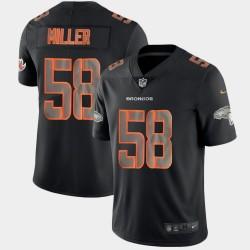 Denver Broncos hommes Von Miller 58 Impact de mode noir couleur Rush Limited Maillot