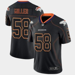 Denver Broncos Men Von Miller 58 Lumières Black Out couleur Rush Jersey limitée