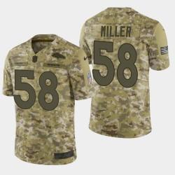 Hommes Denver Broncos 58 Von Miller 2018 Salut à Service Limited Jersey - Camo