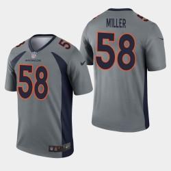 Denver Broncos Von Miller Inverted Legend Jersey - Gris