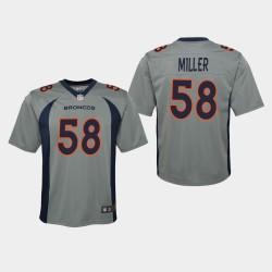 Denver Broncos 58 jeunes Von Miller 2019 Inversé Jeu Jersey - Gris