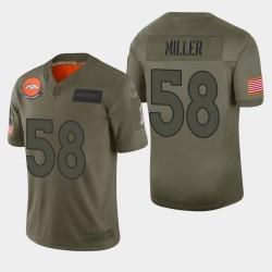 Denver Broncos 58 hommes Von Miller 2019 Salut au service Camo Jersey limitée