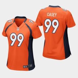Femmes Denver Broncos 99 Jurrell Casey jeu Jersey - Orange