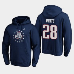 Patriots James White 2019 NFL Playoffs Bound Ville natale Checkdown Sweat à capuche - Marine