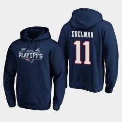 Patriotes Julian Edelman 2019 NFL Playoffs Bound Chip Tir Sweat à capuche - Marine