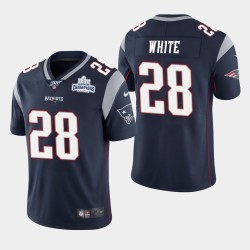 Hommes New England Patriots 28 James White Super Bowl LIII Victory NFL Jersey 100 - Super Bowl LIII Victory